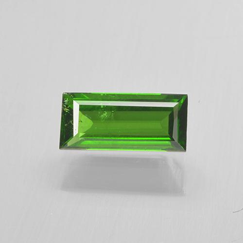 Lively Green Chrome Tourmaline Gem - 0.4ct Baguette Step Cut (ID: 505109)
