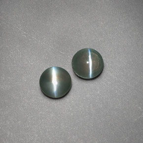 Buy 0.72ct Green Chrysoberyl Cat's Eye 3.94mm  from GemSelect (Product ID: 191363)