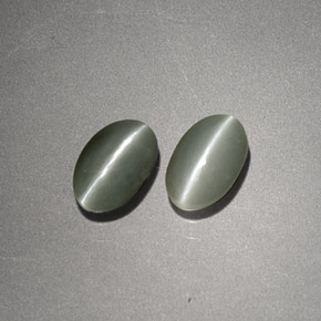 Buy 1.17 ct Cream Green Chrysoberyl Cat's Eye 6.05 mm x 4 mm from GemSelect (Product ID: 255565)