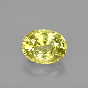 Buy 1.59 ct Greenish Yellow Chrysoberyl 8.14 mm x 6.2 mm from GemSelect (Product ID: 223607)