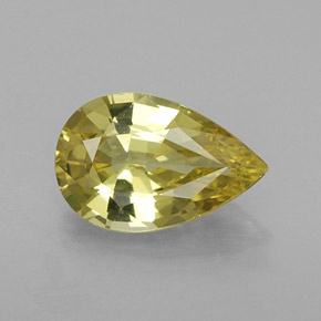 Buy 1.37ct Greenish Golden Chrysoberyl 9.10mm x 5.91mm from GemSelect (Product ID: 254568)
