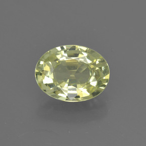 1.48 ct Oval Facet Golden Green Chrysoberyl Gemstone 8.08 mm x 6.1 mm (Product ID: 366300)