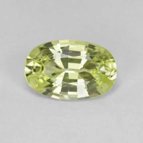 Yellow Green Chrysoberyl Gem - 1.3ct Oval Facet (ID: 366368)