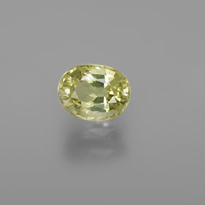 Medium Yellow Crisoberilo Gema - 1.2ct Forma ovalada (ID: 366370)