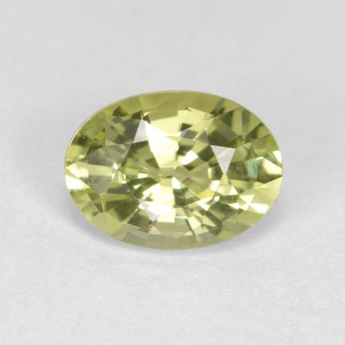 thumb image of 1ct Oval Facet Golden Green Chrysoberyl (ID: 366383)