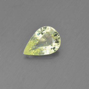 Lemon Chrysoberyl Gem - 1.4ct Pear Facet (ID: 366490)