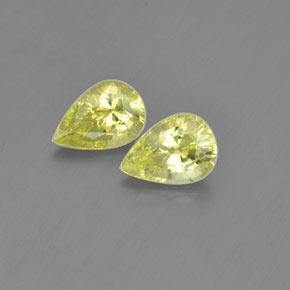 Medium Yellow Chrysoberyl Gem - 1.1ct Pear Facet (ID: 366500)