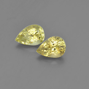 1.13 ct Pear Facet Golden Green Chrysoberyl Gemstone 7.55 mm x 5.4 mm (Product ID: 366501)