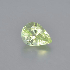 Light Yellow Green Crisoberilo Gema - 1.2ct Corte en forma de pera (ID: 366577)