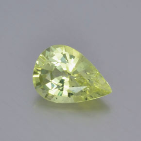 Light Lemon Yellow Crisoberilo Gema - 1.3ct Corte en forma de pera (ID: 366587)