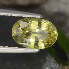 Golden Yellow Chrysoberyl Gem - 1.1ct Oval Facet (ID: 366642)
