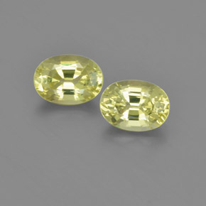 Lemon Yellow Chrysoberyl Gem - 1ct Oval Facet (ID: 366644)