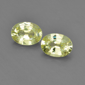 1.15 ct Oval Facet Greenish Golden Chrysoberyl Gemstone 7.55 mm x 5.6 mm (Product ID: 366648)