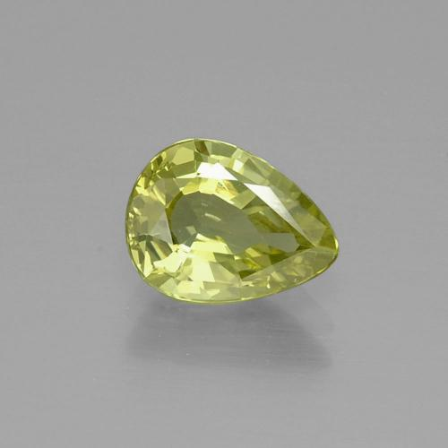 1.47 ct Pear Facet Golden Green Chrysoberyl Gemstone 8.37 mm x 6.3 mm (Product ID: 366656)