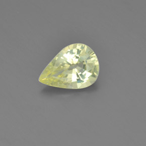 1.39 ct Pear Facet Medium-Light Yellow Chrysoberyl Gemstone 8.77 mm x 6.4 mm (Product ID: 366670)