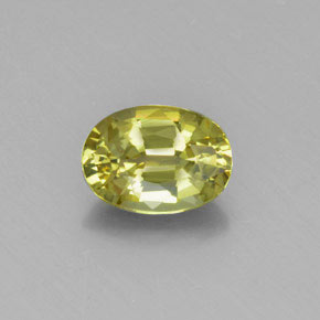 1.36 ct Oval Facet Golden Green Chrysoberyl Gemstone 7.70 mm x 5.6 mm (Product ID: 367375)