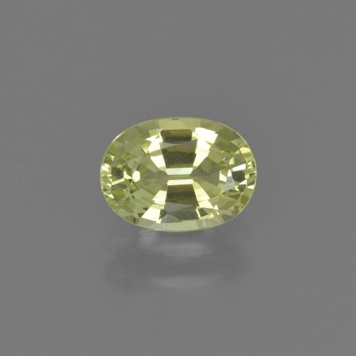 thumb image of 1ct Oval Facet Golden Green Chrysoberyl (ID: 367378)