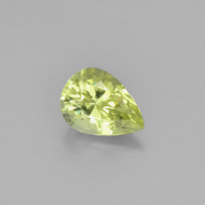 thumb image of 1.1ct Pear Facet Golden Green Chrysoberyl (ID: 367379)
