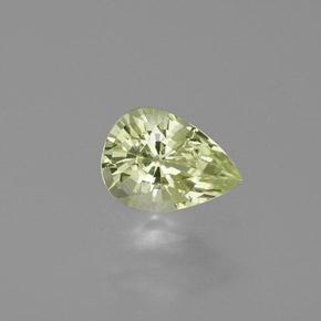 Yellow Green Chrysoberyl Gem - 1ct Pear Facet (ID: 367465)