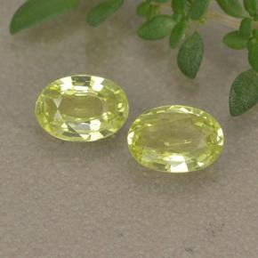 Greenish Yellow Chrysoberyl Gem - 0.4ct Oval Facet (ID: 496120)