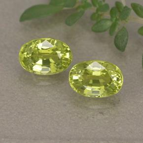 thumb image of 0.7ct Oval Facet Greenish Yellow Chrysoberyl (ID: 496121)
