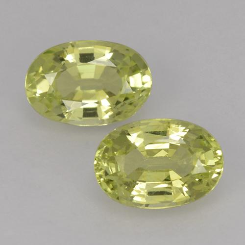 Greenish Yellow Chrysoberyl Gem - 0.6ct Oval Facet (ID: 496123)