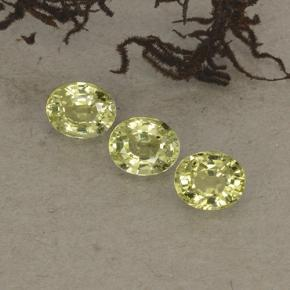 thumb image of 0.5ct Oval Facet Yellow Chrysoberyl (ID: 496124)