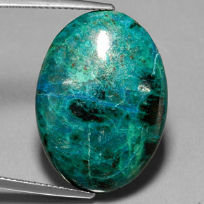 Chrysocolla 21 3 Carat Oval From Peru Natural And