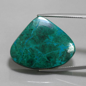 Multicolor Chrysocolla Gem - 44.6ct Pear Cabochon (ID: 362783)