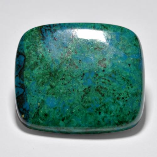 Multicolor Chrysocolla Gem - 63ct Cushion Cabochon (ID: 486433)