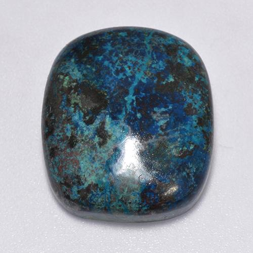 Multicolor Chrysocolla Gem - 22.6ct Cushion Cabochon (ID: 517498)