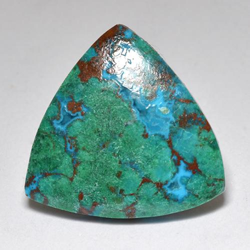Multicolor Chrysocolla Gem - 6.3ct Trillion Cabochon (ID: 517751)