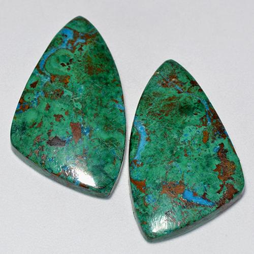 Multicolor Chrysocolla Gem - 9.6ct Fancy Cabochon (ID: 518562)
