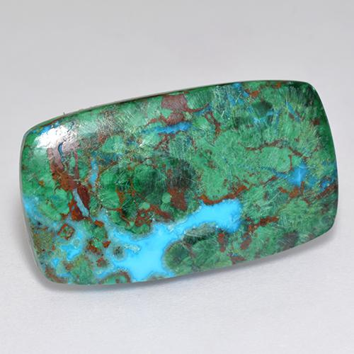 Multicolor Chrysocolla Gem - 12ct Cushion Cabochon (ID: 518873)
