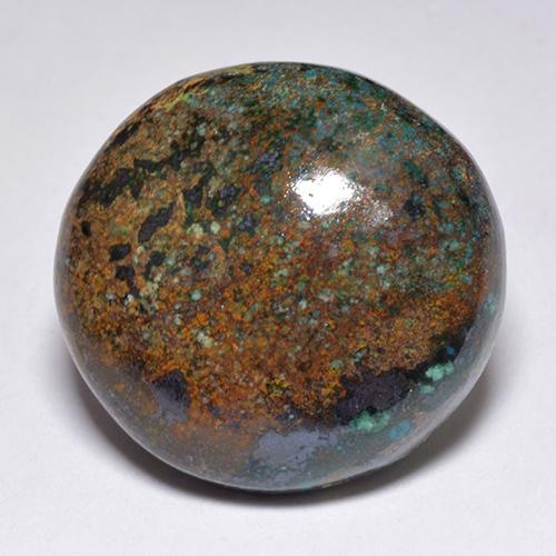 Multicolor Chrysocolla Gem - 23.9ct Round Cabochon (ID: 519717)