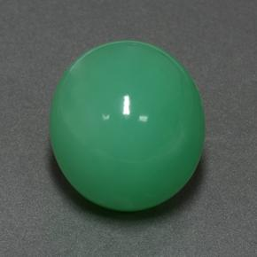 Green Chrysoprase Gem - 21.3ct Oval Cabochon (ID: 505413)