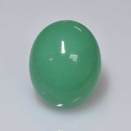 19.30 ct Ovale cabochon Medium Green Crisoprasio Pietra preziosa 18.85 mm x 15.5 mm (Product ID: 505421)