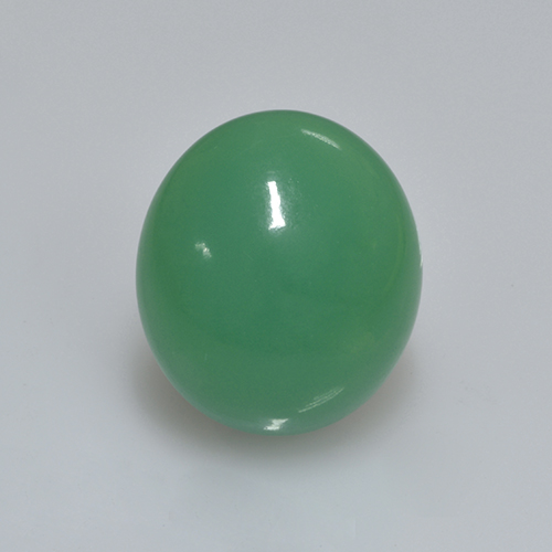 Green Chrysoprase Gem - 11.5ct Oval Cabochon (ID: 505454)