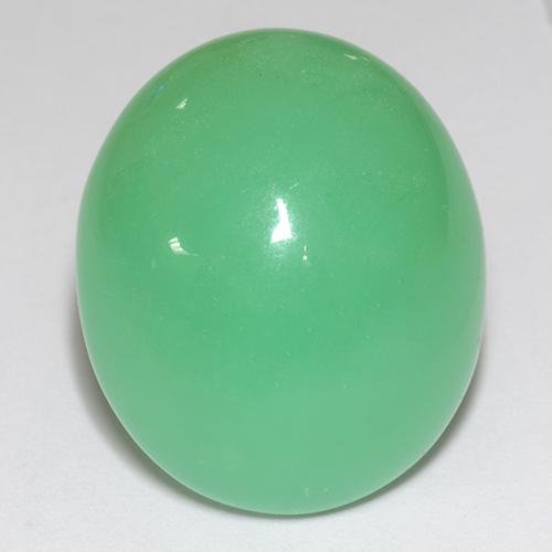 30.61 ct Oval Cabochon hellgrün Chrysopras Edelstein 21.86 mm x 18.5 mm (Photo A)