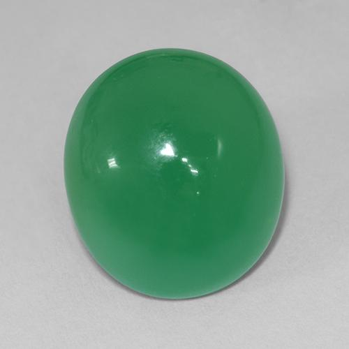 11.4ct Ovale Cabochon Medium Green Chrysoprase gemme (ID: 510654)