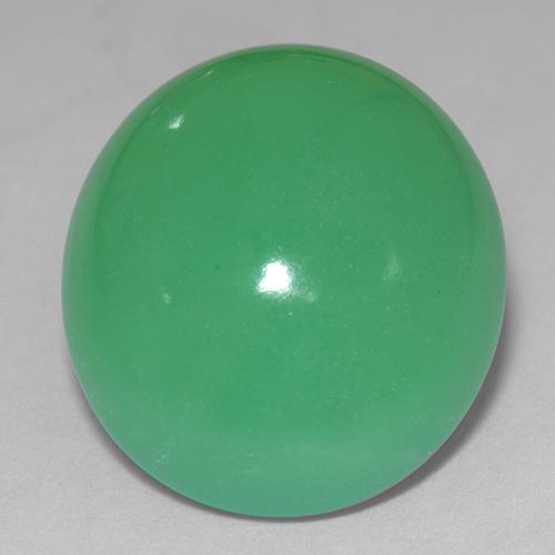 14.4ct Oval Cabochon Medium Green Chrysoprase Gem (ID: 510665)