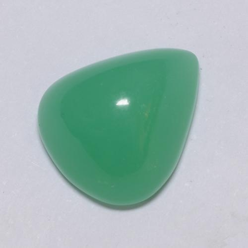 Green Chrysoprase Gem - 5.6ct Pear Cabochon (ID: 511280)