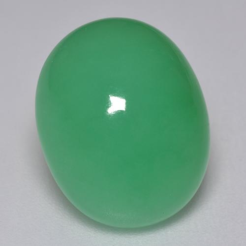 Green Chrysoprase Gem - 9.3ct Oval Cabochon (ID: 515467)