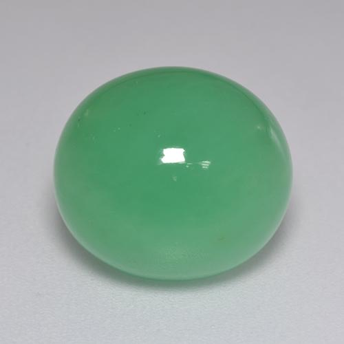 Green Chrysoprase Gem - 9ct Oval Cabochon (ID: 517016)