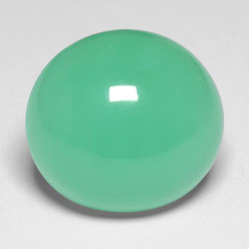Medium Green Crisoprasa Gema - 8.6ct Cabujón Óvalo (ID: 546386)