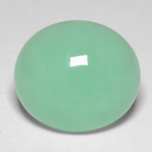 7.7ct Oval Cabochon Light Mint Green Chrysoprase Gem (ID: 546699)