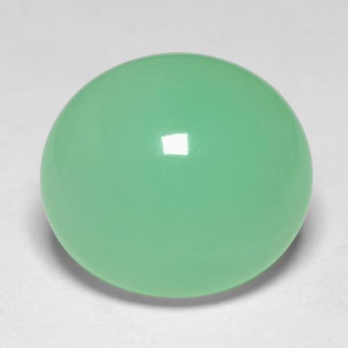 6.9ct Oval Cabochon Pale Yellowish Green Chrysoprase Gem (ID: 546706)