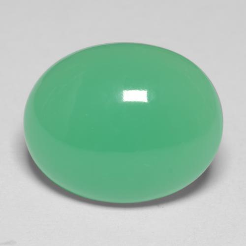 Mint Green Chrysoprase Gem - 5.6ct Oval Cabochon (ID: 546710)