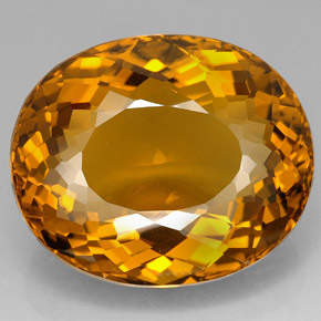 Citrine 156 4 Carat Oval From Madagascar Natural And