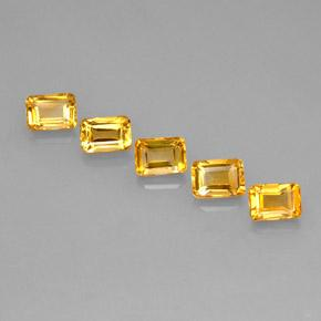 Yellow Golden Citrine Gem - 1.1ct Octagon Step Cut (ID: 275146)